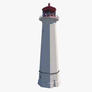 lighthouse house 3D model