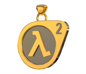 3D 2 half life logo