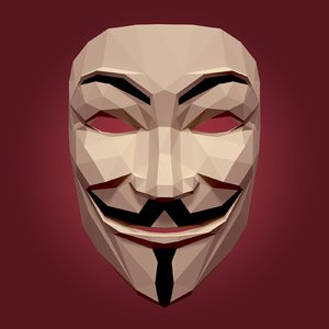 anonymous mask 3D