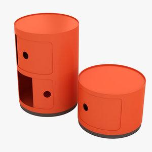 kartell cabinet 3D