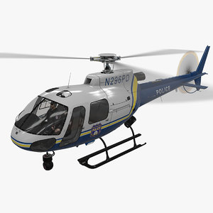 3D model helicopter as-350 philadelphia police