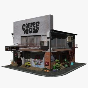 japanese coffee shop 3D model
