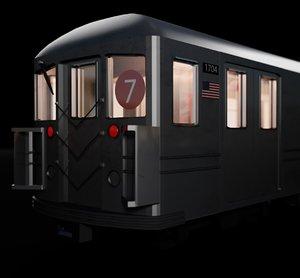 3D model subway new york