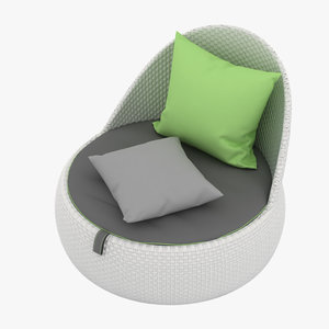dedon chair 3D