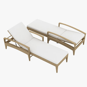 dedon beach chair 3D model