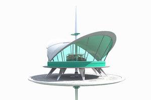 futuristic skyscraper 3D