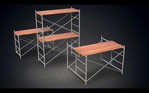 scaffoldings 3D model