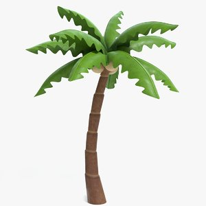 3D cartoon palm tree