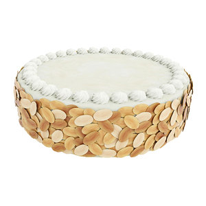 cake almond vanilla 3D model