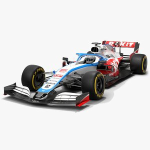 williams f1 racing fw43 3D model