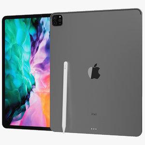 realistic apple ipad pro 3D