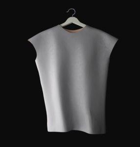 3D sleeveless t-shirt t