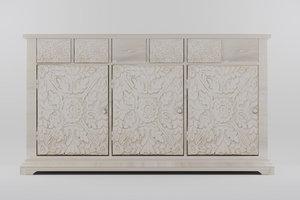 3D model sideboard 3 doors