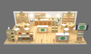 3D model booth 4x7 5
