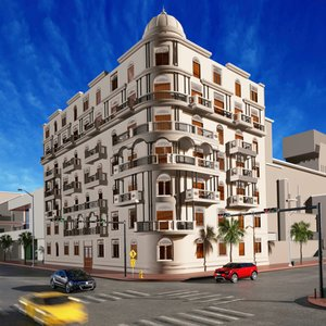 old classic building 3D