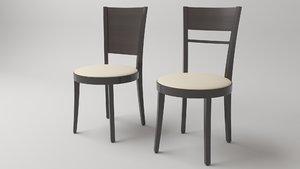 bar chair sofia 3D