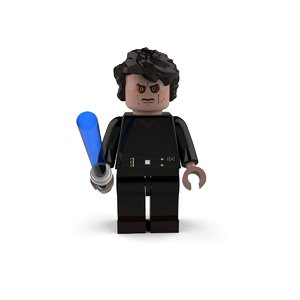 3D anakin skywalker star model