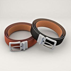 3D belt fashion apparel model