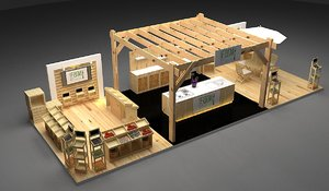 booth 4x10 3D model