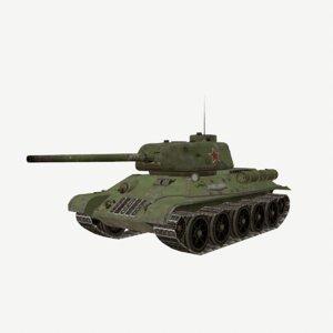 3D t34 t-34 soviet medium