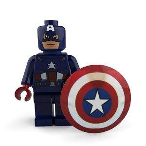 3D captain america