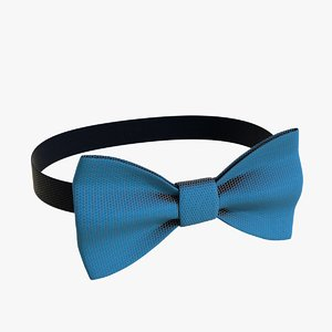 3D realistic bow tie 02 model