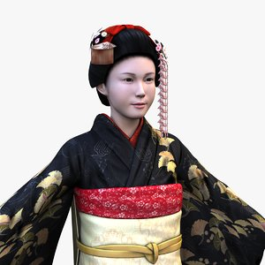 japanese geisha 3D model