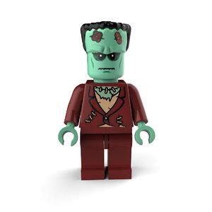 3D model frankenstein lego