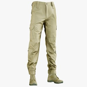 realistic military pants boots model