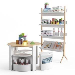3D set children s furniture