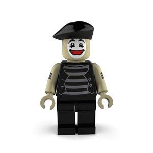 3D model mime happy