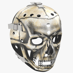 3D model ice hockey goalie mask