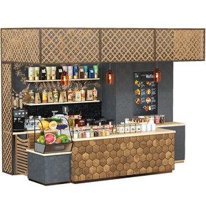 3D cafe restaurant model