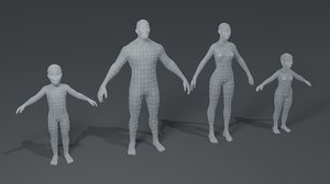 3D human body base mesh
