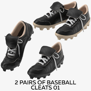 3D 2 pairs baseball cleats