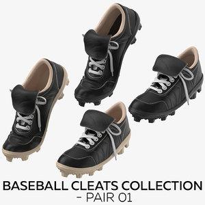 3D baseball cleats - pair