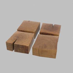 3D wood block