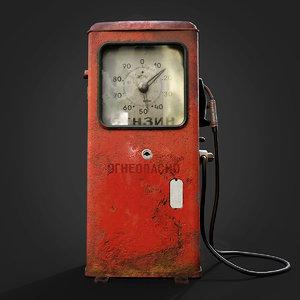 soviet gas pump 3D model