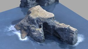 cliff island 3D model