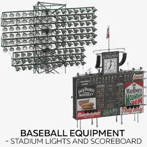 baseball equipment - stadium lights 3D model