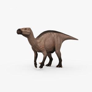 3D iguanodon dinosaurs