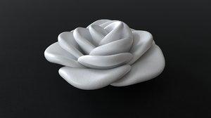 3D decorative rose flower model