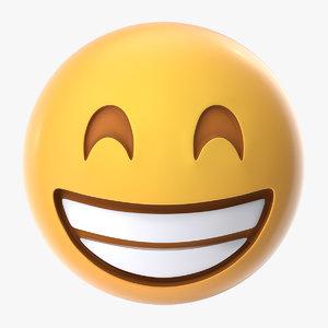 happy emoji 3D model