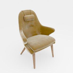 kaia lounge chair 3D