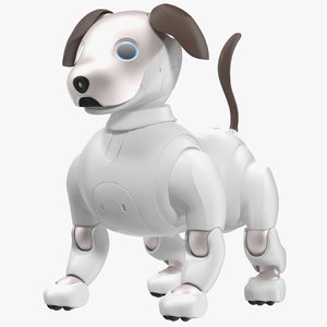 3D sony aibo 2017 robotic model