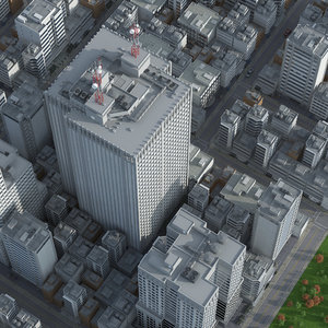 city skyscraper building 3D model