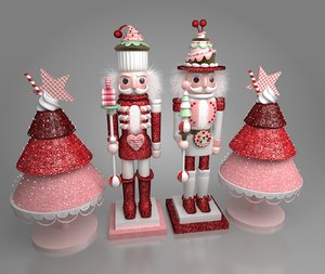 nutcracker christmas decoration 3D model