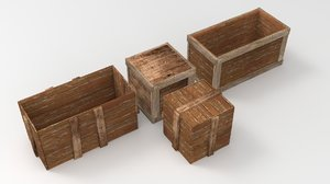 wooden crate model