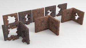 3D wall corner