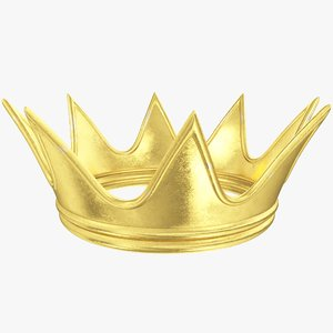 cartoon gold crown 3D model
